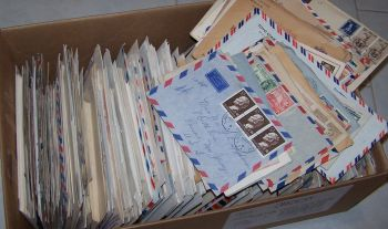 A box of correspondence: Paid $175